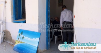 Ahmed Neji Souissi Atelier et client El Maghaza