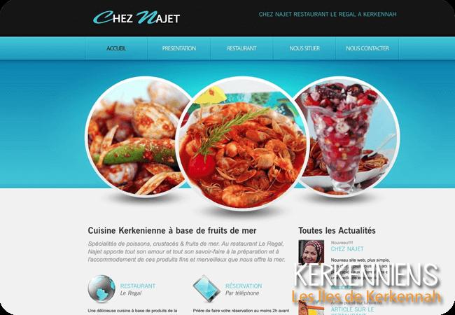 Chez Najet restaurant Le Regal Kerkennah site Internet