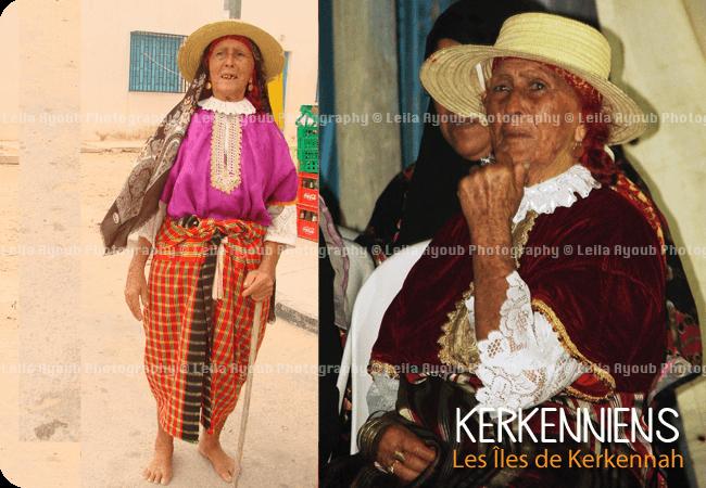 Dame kerkenienne Karknia - Photo de Leila Ayoub Kerkennienne