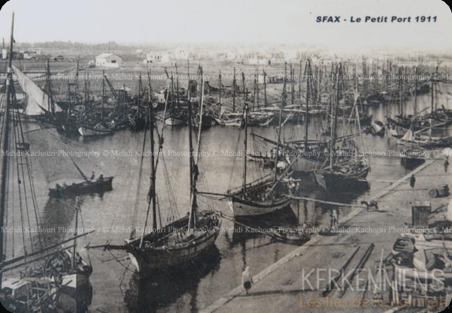 Gallit fi Kerkena Galletes à Kerkennah Le petit port de Sfax 1911