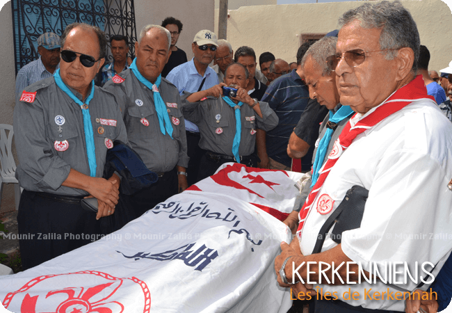 Naceur Zalila honneurs rendus par les scouts