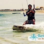 Liberta Cercina (Sayyed Amiri) Amin, Kite Kitesurf à Kerkennah