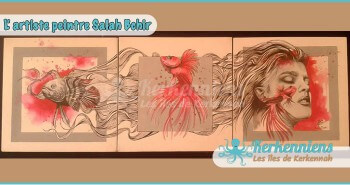 Salah Bchir abstrait contemporain peinture Kerkennah El maghaza