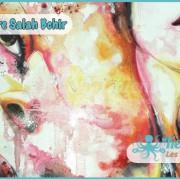 Salah Bchir abstrait femme contemporain peinture Kerkennah
