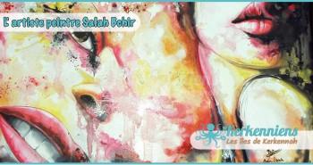 Salah Bchir abstrait femme contemporain peinture Kerkennah El maghaza