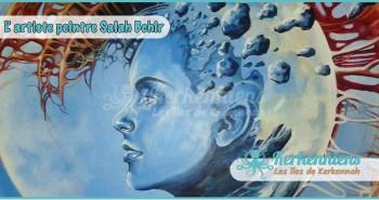 Salah Bchir abstrait futuriste peinture Kerkennah El maghaza