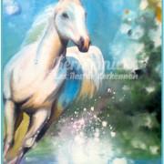 Salah Bchir cheval peinture Kerkennah
