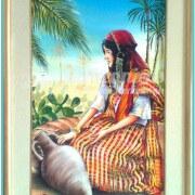 Salah Bchir femme kerkennienne peinture Kerkennah