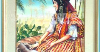Salah Bchir femme kerkennienne peinture Kerkennah El maghaza