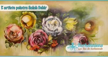 Salah Bchir fleurs peinture Kerkennah El maghaza