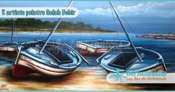 Salah Bchir flouka plage peinture Kerkennah El maghaza