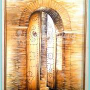 Salah Bchir porte maison peinture Kerkennah