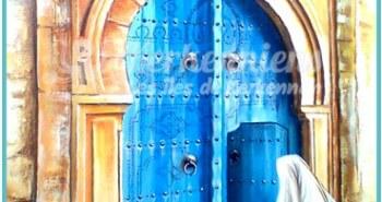 Salah Bchir porte maison bleu peinture Kerkennah El maghaza