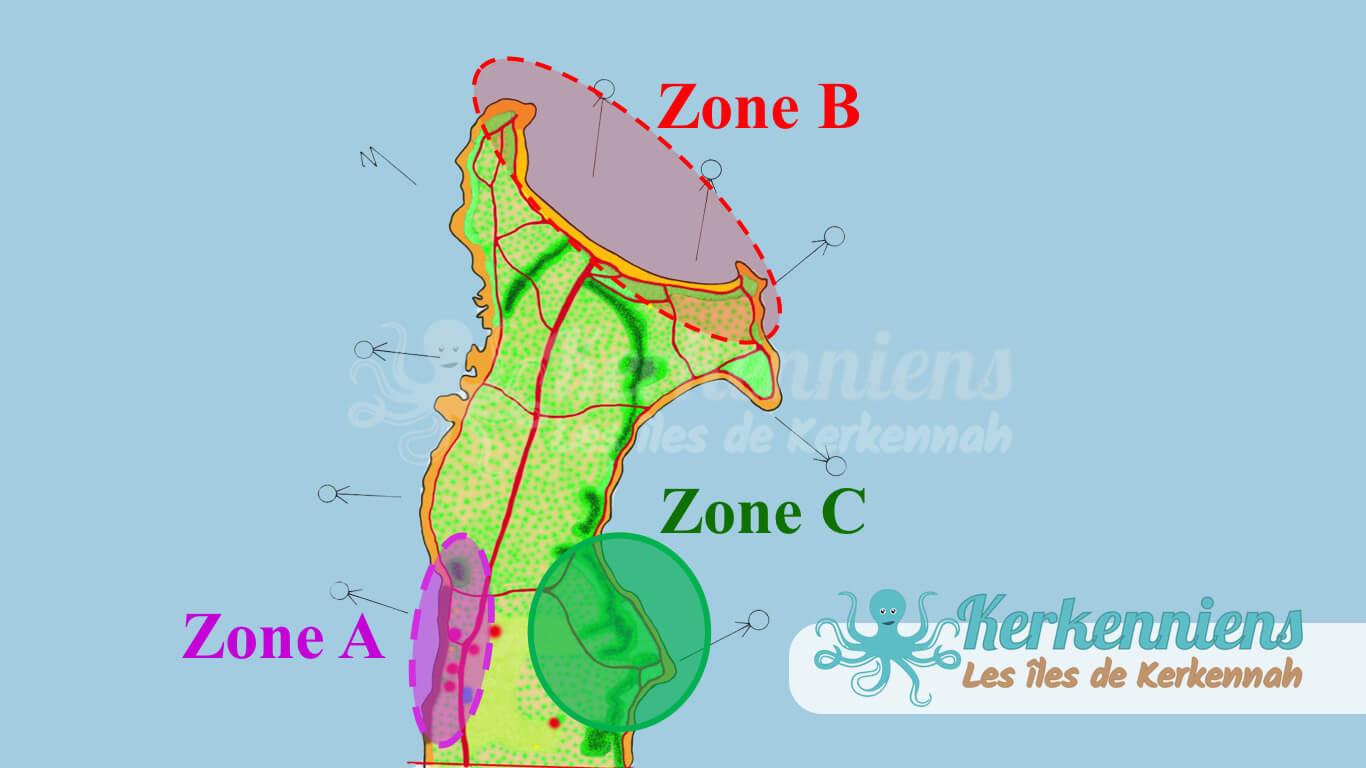 Zones d'appropriation Projet éco touristique de Sidi Founkhal Kerkennah
