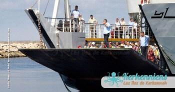 Quai du débarquement du ferry à Sidi Youssef kerkennah