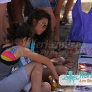 Pause méritée Atelier de dessin Tournoi de Beach volley Association Sports et Loisirs de Kerkennah