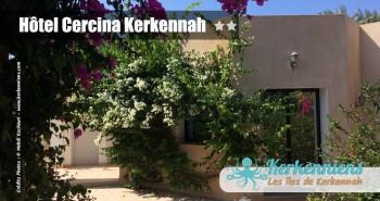 Bougainvillier rose et blanc Hôtel Cercina Kerkennah Tunisie