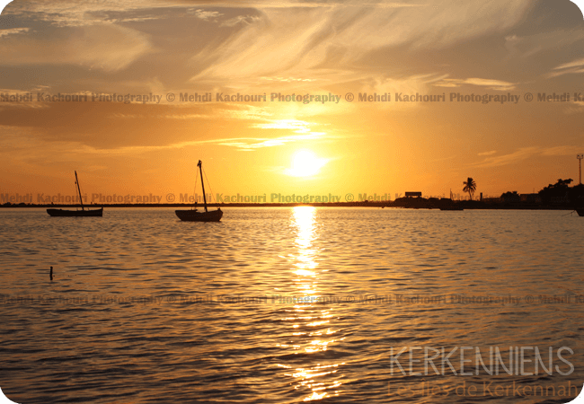 Coucher de soleil Iles de Kerkennah Kerkena Tunisie Photo 1