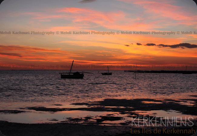 Coucher de soleil Iles de Kerkennah Kerkena Tunisie Photo 11