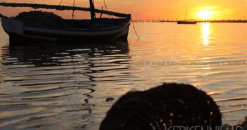 Coucher de soleil Iles de Kerkennah Kerkena Tunisie Photo 2