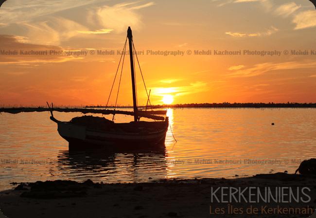 Coucher de soleil Iles de Kerkennah Kerkena Tunisie Photo 3
