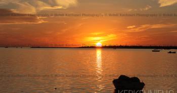 Coucher de soleil Iles de Kerkennah Kerkena Tunisie Photo 4