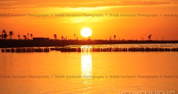 Coucher de soleil Iles de Kerkennah Kerkena Tunisie Photo 5