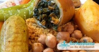 Couscous aux calamars farcis de Kerkennah (Tunisie)