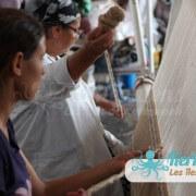 Dalila et Mahbouba à l'atelier d'Ouled Kacem Artisanat Kerkenniens Atelier Kerkenatiss