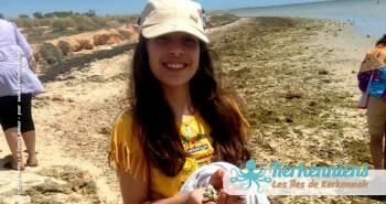 Découverte d'El Grimdi (îlot de Grimdi) par des enfants