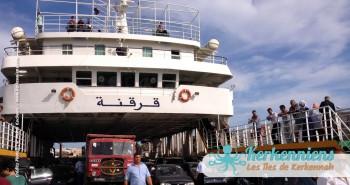 L'embarquement sur le car-ferries à Sfax