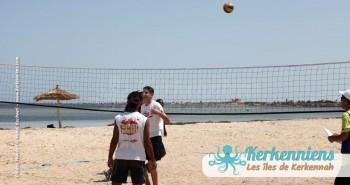 Échauffement retour Tournoi de Beach volley Association Sports et Loisirs de Kerkennah