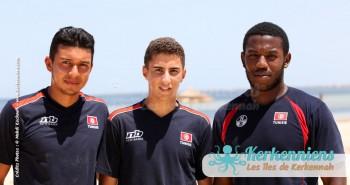 Équipe retour Tournoi de Beach volley Association Sports et Loisirs de Kerkennah