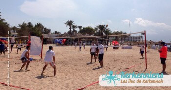 Équipe homme 3x3 Kerkennah terre beach volley Kerkennah Happy Beach Volley Ball