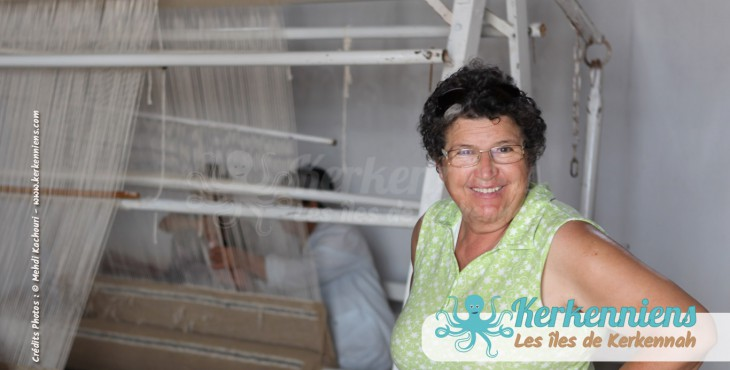 Fatma Samet l'atelier d'Ouled Kacem Artisanat Kerkenniens Atelier Kerkenatiss