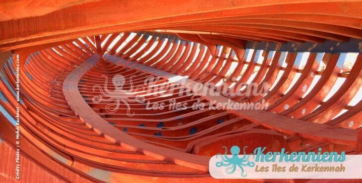 Le cœur d'une felouque (Flouka) El Attaya (Kerkennah)