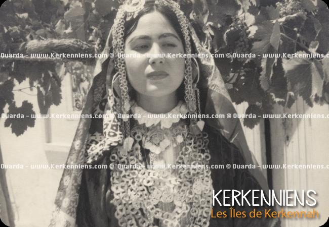 Ouarda en Habit traditionnel de mariage Kerkennien