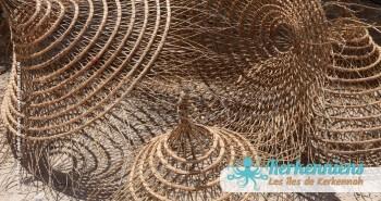 Hamadi lustres suspension atelier vannerie El Attaya Artisanat Kerkenniens Atelier Kerkenatiss Kerkennah