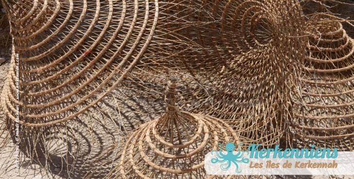 Hamadi lustres suspension atelier vannerie El Attaya Artisanat Kerkenniens Atelier Kerkenatiss