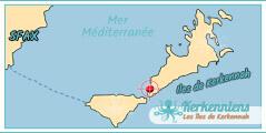 Carte Map Ils de Kerkennah Dar El Kantara Maison d'hôtes à Kerkennah Tunisie