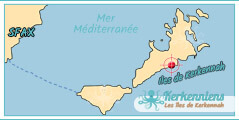 Résidence Map Carte Iles de kerkennah Résidence Abassya Kerkena Kerkennah Tunisie