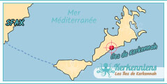 Carte Map Ils de Kerkennah Auberge Raed Kerkennah Tunisie