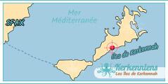 Carte Map Ils de Kerkennah Hôtel - Résidence Raed Kerkennah Tunisie