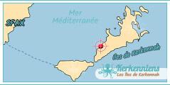 Hôtel Map Carte des iles de Kerkennah Cercina Hôtel Kerkennah Tunisie