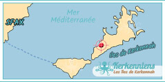 Hôtel map carte iles de kerkennah hôtel Appart Hotel Aziz Kerkennah Tunisie