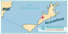 Hôtel Map Carte iles de Kerkennah Résidence Ennakhla Kerkennah Tunisie