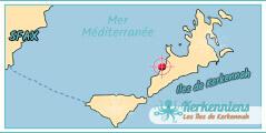 Carte Map Iles de Kerkennah Village Vacances Résidence Club Kerkennah