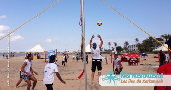 Jeu 3x3 beach volley ball Kerkennah terre beach volley Kerkennah Happy Beach Volley Ball