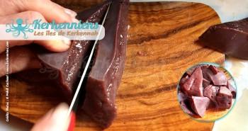 Couper le foie de bœuf ou le foie de veau Kamounia (Kammounia) recette Tunisienne