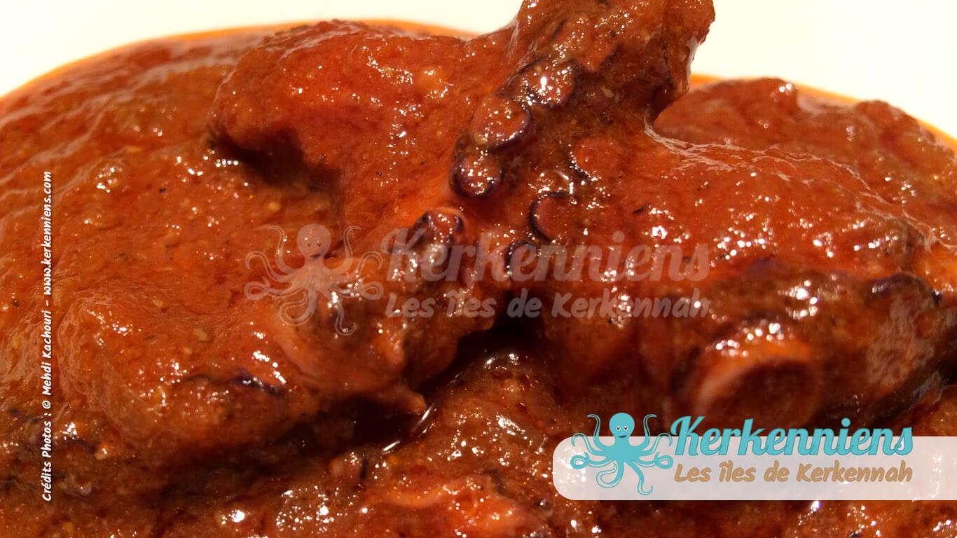 Kamounia au poulpe bel karnit kerkennah - Comment cuisiner un poulpe ...